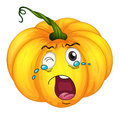 Crying pumpkin Royalty Free Stock Photo