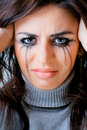 Crying woman towards Stock Photo