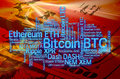 Crypto currencies word cloud