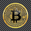 Crypto currency bitcoin golden symbol