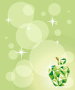 Crystal apple background illustration of a green on a beautiful green Royalty Free Stock Photo