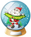 A crystal ball with Santa Claus inside Royalty Free Stock Photo