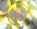 Crystal Ball Showing the Future Stock Images