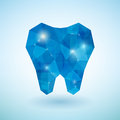 Crystal blue tooth on the background Stock Images