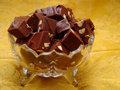 Crystal Bowl of Fudge Stock Photography