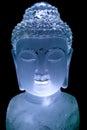 Crystal buddha the close up of berg carving of avalokitesvara Royalty Free Stock Image