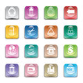 Crystal buttons this is vector to apply for usage in smartphone mobile laptop or any Royalty Free Stock Image