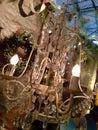 Crystal chandelier Photos stock