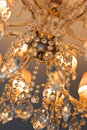 Crystal chandelier closeup of a beautiful Stock Images