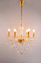 Crystal Chandelier  lighting Royalty Free Stock Photo