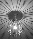 Crystal Chandelier Shadows Royalty Free Stock Photography