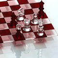 Crystal chess Royalty Free Stock Image