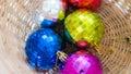 Crystal christmas ball Lizenzfreies Stockbild