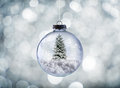 Crystal Christmas ball Royalty Free Stock Photo