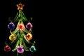 Crystal christmas tree Royalty Free Stock Photo