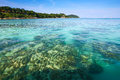 Crystal clear sea at tropical island beautiful and beach koh lipe andaman thailand Stock Images