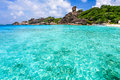 Crystal clear sea at tropical island similan andaman thailand Stock Images