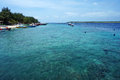 Crystal clear turquoise water at tropical beach of gili trawangan indonesia Stock Photography
