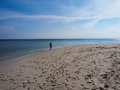 Crystal clear water along the beach surrounds and this is at a good season Royalty Free Stock Images