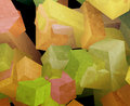 Crystal cubes Stock Photo