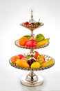 Crystal fruit dish healthy eating Stock Photo