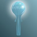 Crystal glass ball for future prediction abstract Stock Photography