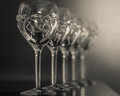 Crystal glasses Royalty Free Stock Photo