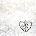 Crystal heart Royalty Free Stock Images
