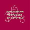 Crystal illustration and Trendy icon diamond terrarium.
