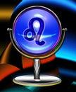 Crystal leo för boll zodiac Arkivbild