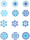 Crystal modulation of a snowflake 1. Royalty Free Stock Images