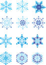 Crystal modulation of a snowflake Stock Image