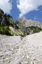Crystal mountain of dolomites north italy Royalty Free Stock Images