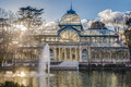 Crystal Palace on Retiro Park in Madrid, Spain. Royalty Free Stock Photo