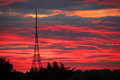Crystal Palace Transmitting Station at dawn Royalty Free Stock Photo