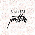 Crystal pattern Royalty Free Stock Photo