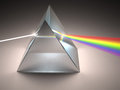 Crystal prism the disperses white light into many colors Royalty Free Stock Photos