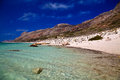 Crystal pure water in balos lagoon amazing beach with crete Royalty Free Stock Photography