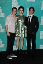 Crystal Reed, Tyler Posey, Dylan O'Brien at the 2012 MTV Movie Awards Press Room, Gibson Amphitheater, Universal City, CA 06-03-12 Royalty Free Stock Images