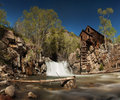 Crystal river and lost horse mill in colorado the or which used to supply power to the nearby silver mines via a Stock Photo