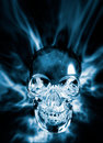 Crystal skull Stock Photography