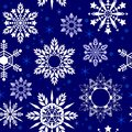 Crystal Snowflake Seamless Pattern Texture In Blue Porcelain Tone
