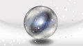 Crystal sphere with galaxy contained Stock Images
