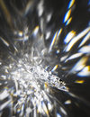 Crystal star with refractions Royalty Free Stock Photo