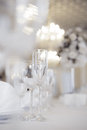 Crystal table setting Stock Afbeelding