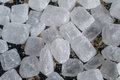 Crystalline sugar candy white. Royalty Free Stock Photo