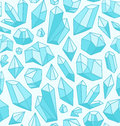 Crystals pattern Royalty Free Stock Photos