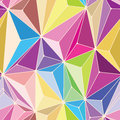 Crystals seamless pattern with different colors Stock Photos