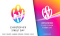 CSD Christopher Street Day symbol emblem for European Gay Pride Royalty Free Stock Photo