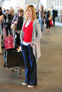 CSI actress Marg Helgenberger at LAX airport Royalty Free Stock Photography